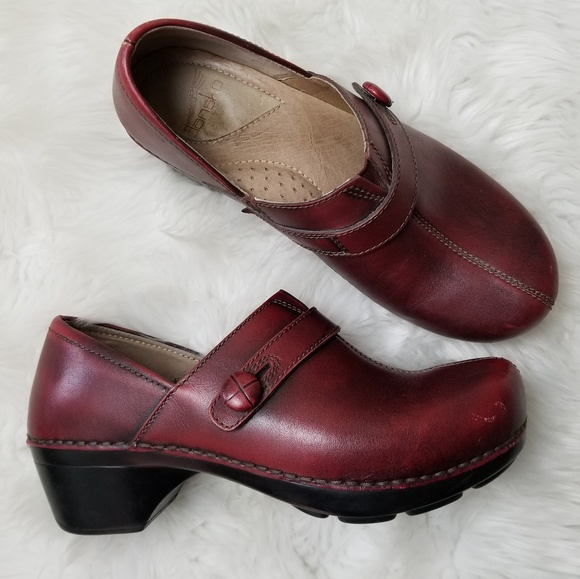 0ff112c33140 Dansko Shoes - Dansko Red Leather Slip On Mules Size 38